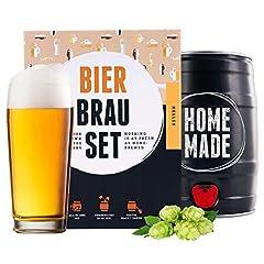 braufaesian bierbrouwset voor zelfbrouwen | Helder in 5 L vat | Heerlijk bier gebrouwen in 7 dagen | Perfect herencadeau*