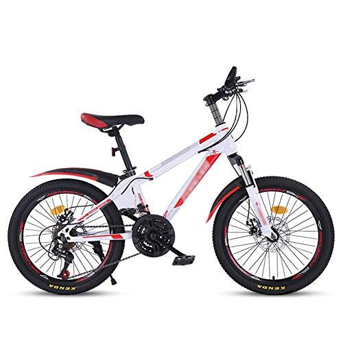 DX Bicicleta Montaña 20 Pulgadas Come Velocidad Variable para niños untain Big Boy Primary School Studen 8 14 años OL Neumáticos Antideslizantes Resistentes al Desgaste