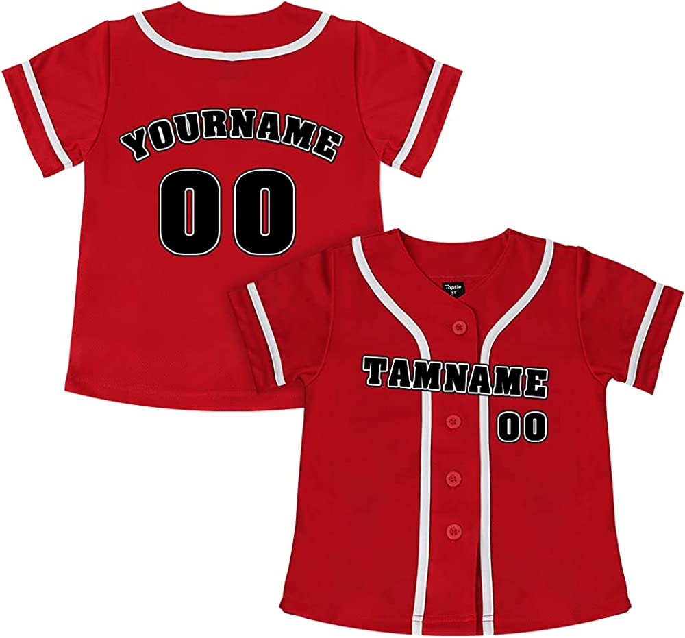 TOPTIE Custom low-pricing Design discount Boys Baseball Kids Do Button Jersey
