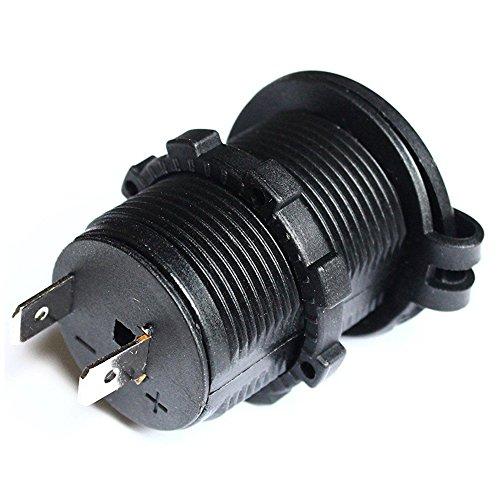 SODIAL 12V / 24V Bateau de Voiture Prise de Port de Chargeur USB 2.4A avec Interrupteur