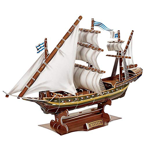 Jadpes Modelo de Barco de Papel 3D, Modelo de Barco Pirata ensamblado Puzzle Barco de Juguete para niños Niños Puzzle de Papel Modelo de Barco Pirata Misterioso