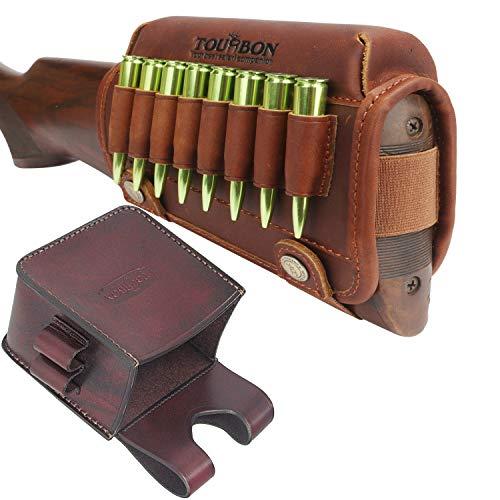 TOURBON Belt Holster Cartridge Holder Cheek Pads for Rifle Stocks