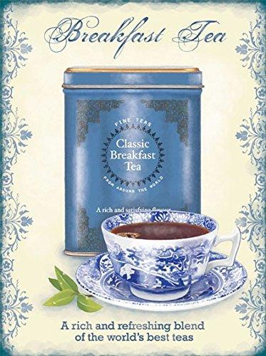 Unbekannt Breakfast Tea Tee Blechschild Stabil Flach Neu 15x20cm S5222