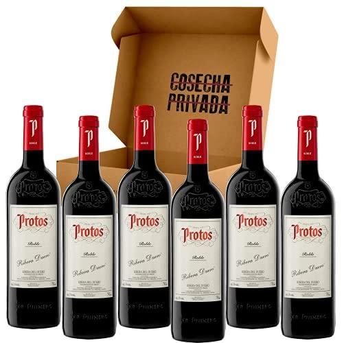 Protos Roble - Envío Gratis 24 H - 6 Botellas - Vino Tinto - Ribera del Duero - Seleccionado y Enviado por Cosecha Privada