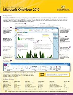 Microsoft Onenote 2010 Quick Start Reference Card, 6-page Tri-fold Tips & Tricks Shortcut Training &