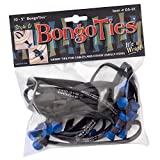 """BongoTies BLUE & BLACK""""Azure"""" Bongo Ties ~ 10 Pack""""Style-D"""" ~ HANDY TIES FOR CABLES AND OTHER UNRULY ITEMS"""