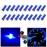 cciyu 20x Blue T5 Blue Dashboard Instrument Panel Instrument Speedometer Gauge Cluster 37 73 74 79 17 57 5050 1-SMD LED Light Bulb 12V (blue)