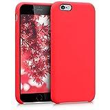 kwmobile Coque Apple iPhone 6 / 6S - Coque pour Apple iPhone 6 / 6S - Housse de téléphone en Silicone Rouge Fluo
