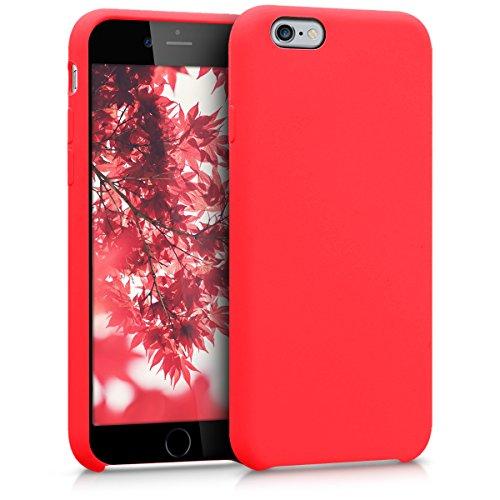 kwmobile Coque Compatible avec Apple iPhone 6 / 6S - Coque Étui Silicone - Housse de téléphone Rouge Fluo