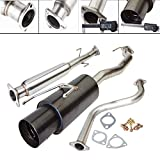 Compatible With 1990-1993 Honda Accord 2.5 Inch Stainless Steel Catback Exhaust System 4.5 Inch Gun Metal Muffler Tip