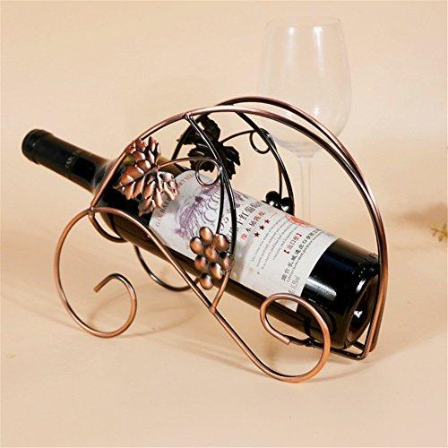 Vigvog ferro portabottiglie in metallo foglia Decor Wine Bottle Holder