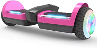 Supersale 6.5'' Bluetooth Rocket Jet Hoverboard with Glowing Water Vapor Jets Space Sound Effect & LED Flash Wheel