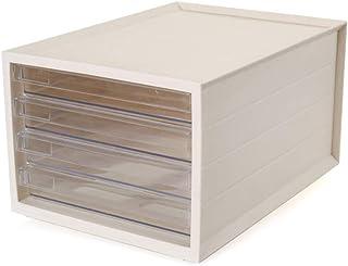 PQXOER Armoire de Classement Portable File Cabinet Bureau Vitrine Rack et Rangement Classeur 4 tiroirs for Living Room Cha...
