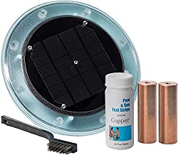Peak Products Solar Pool Ionizer, Kills Algae Using 85% Less Chlorine, 100% Natural, Keeps Water Crystal Clear - Treats Pools up to 35,000 Gallons and Includes Free Extra Copper Core' for ASIN