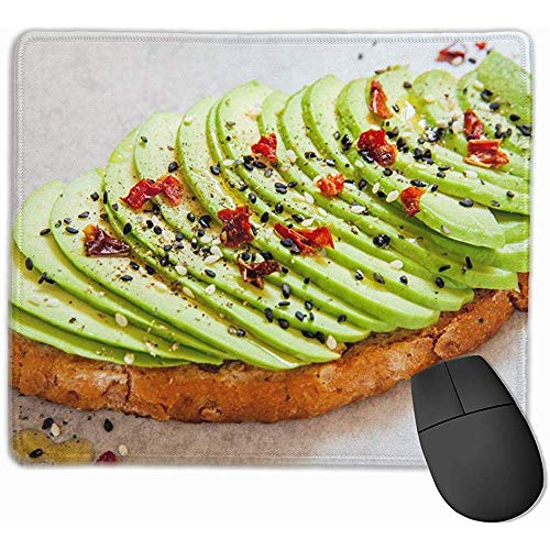 Gesneden Avocado Op Toast Brood Specerijen FoodDrink Mousepad NonSlip Rubber Gaming Mouse Pad Mouse Pads