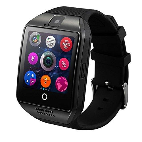 Wildguarder Bluetooth reloj inteligente apro Q18 soporte NFC doble GSM Camara de video de Apoyo de Android / iOS movil SmartWatch (gris)