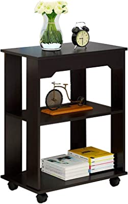 JCCOZ-URG Small Modern Coffee Table, Multifunction Multi-Layer It Can Move Wooden Small Table, Creative Bedroom Living Room Sofa Tea Table Coffee Table (Color : Black) JCCOZ-URG (Color : Black)