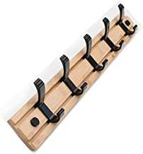 Creative Wall Bamboo Coat Rack Movable Hanging Hook Hanger European-style Hanging Clothes Racks Hook Sitting Room Accessor...