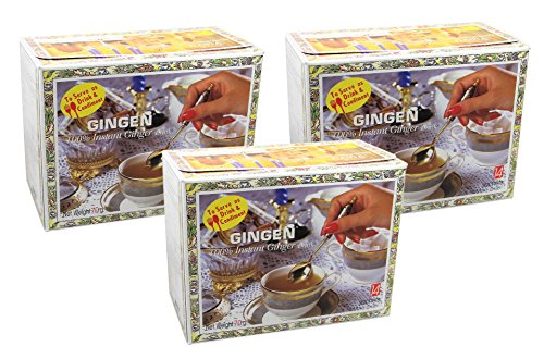 Gingen - Thai Ingwer Teegetränk - 3er Pack (3 x 70g) - Je 14 Instant Sachets