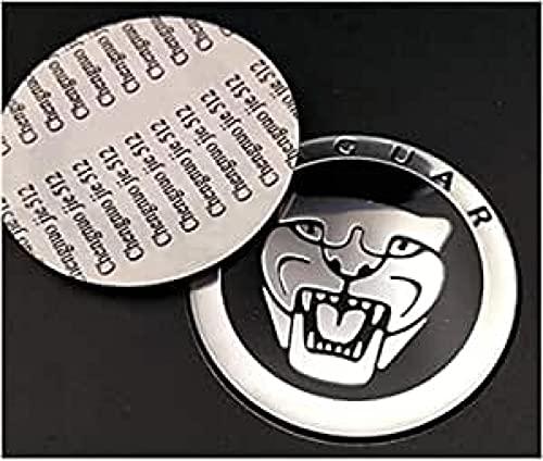 ColorBuy Etiqueta de Rueda Universal automotriz, Adecuada para la Etiqueta engomada del Coche de Metal con Cabeza de Pantera Jaguar, decoración del Centro del neumático de 65 mm Negro