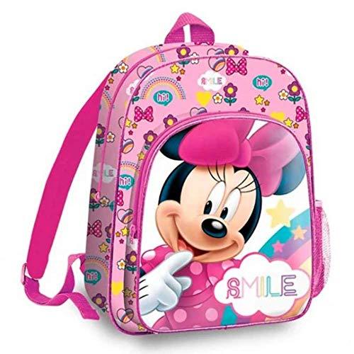 Minnie Mouse - Zaino per il tempo libero e lo sport, unisex, multicolore, 36 cm