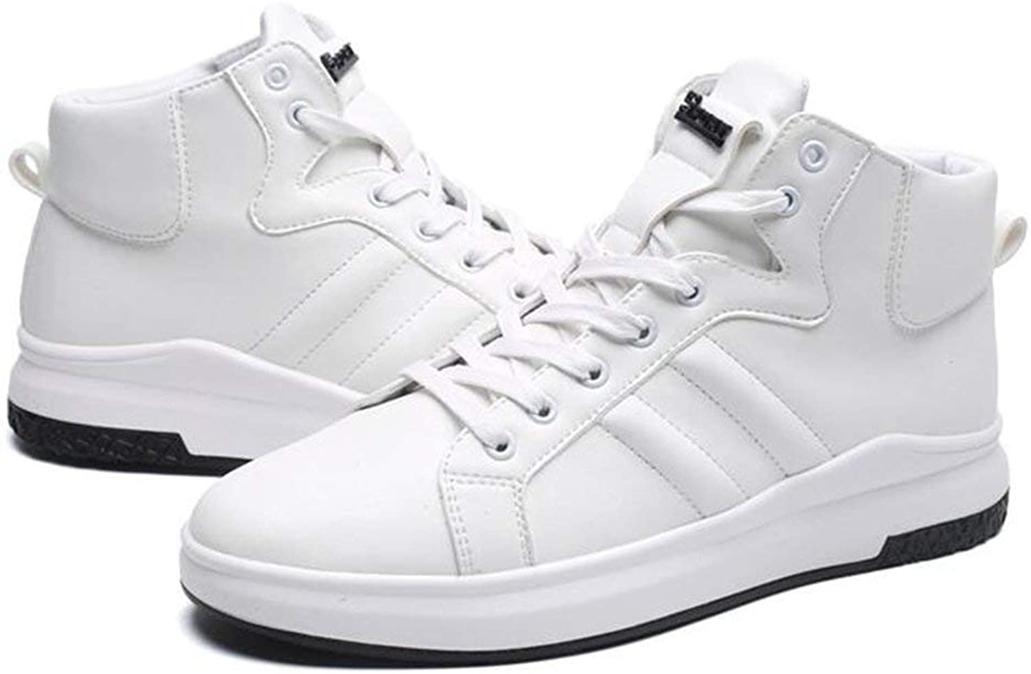 Dsx Men's shoes High-Top shoes Pu Unisex Adult Basketball shoes Running shoes Sports shoes Trainer Black White Red, white, EU39 UK6.5 CN40