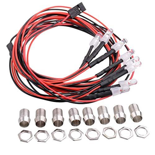 hndfhblshr Set di luci a LED per Accessori RC Ricambi RC Auto, Diametro 5mm