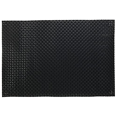 Juego de 2 manteles individuales de PVC malla, color negro