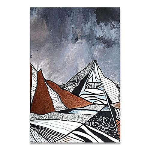 LWJPD Cuadro sobre Lienzo 30x45cm Sin Marco Amedeo Modigliani Luz De Lujo Abstracto Pinturas De Pared Cartel Sala De Estar Decoración Del Hogar