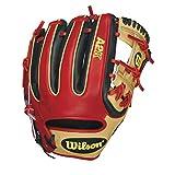 Wilson A2K DatDude Brandon Phillips Infield Baseball Glove, Blonde/Black/Red, Right Hand Throw, 11.5-Inch