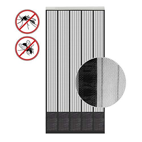 wamovo Insektenschutz Tür mit Kederleiste 185x65cm Breite und Länge einstellbar