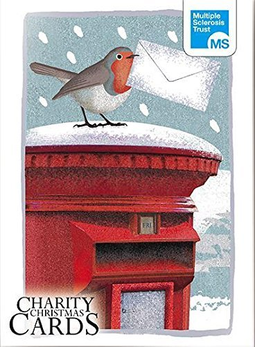 Box of 12 Robin & Hare MS Multiple Sclerosis Trust Charity Christmas Cards Boxed