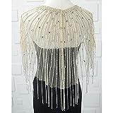 Cadena de hombro de cristal de la cadena del hombro de la joyería de lujo brillante vestido de boda grande collar accesorios (Color del metal: glod)
