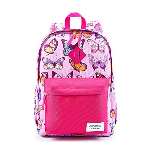 Preschool Backpack Little Kid Toddler Kindergarten School Backpacks for Boys and Girls with Chest Strap (Butterfly)