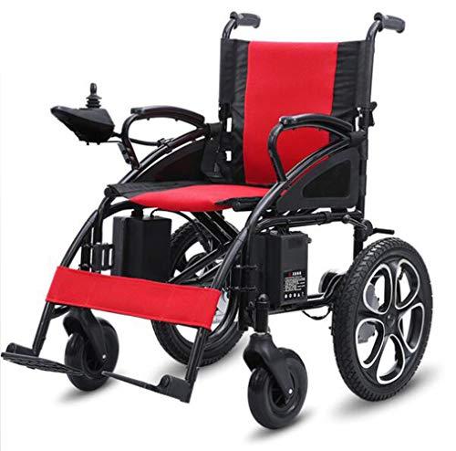 YOLL L&T Silla De Ruedas Inteligente Silla De Ruedas Eléctrica Power Chair Plegable Wheelchair Ligera De La Steel Silla,conduzca con Potencia O Use como Silla De Ruedas Manual a/A