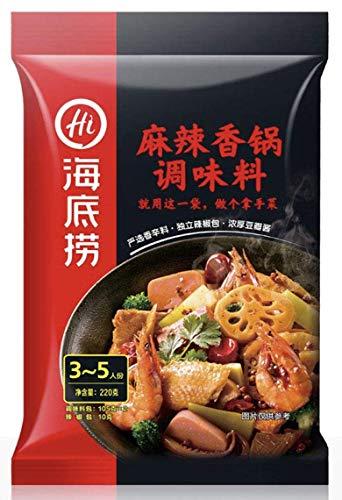 HAIDILAO Spicy Incense Pot Hot Pot Bottom Material Spicy Shrimp Dry Pot Seasoning Can Do Hot Pot Bottom Material 220g(220g spicy incense pot seasoning flavor/220g???????)?????????????????????????220g