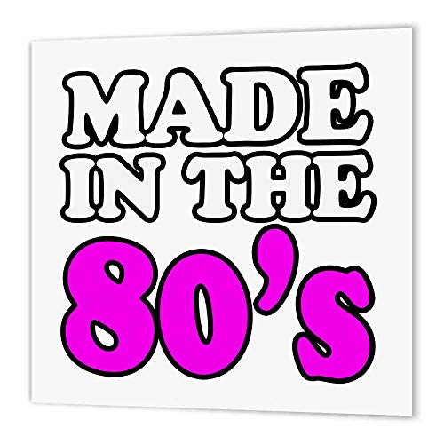 3dRose ht_163820_1 Made in The 80S. Pink. Happy Birthday-Iron on Heat Transfer Paper for White Material, 8 by 8-Inch