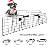 Sailnovo Dog Barrier for Car SUV Vehicles, Adjustable Pet Barrier Wire Mesh Dog Car Barrier for Cargo Area - Universal Fit