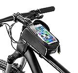 Borsa Telaio Bici, Porta Cellulare Bici, TPU Touch Screen Visiera Solare Portacellulare Adatto per telefoni sotto 6.5 Pollici