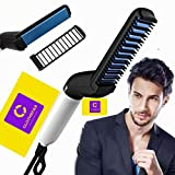 Clothsfab® Men Quick Beard Hair Straightner Styler Multifunctional Electric Comb Care Massager For