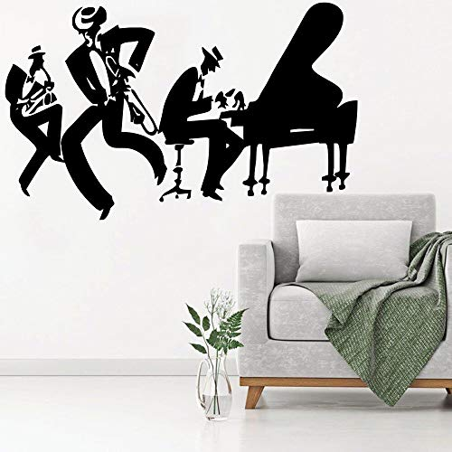 ASFGA Jazz Saxophon Gungju Musik Player Aufkleber Kunst Vinyl Trommel Bass Vinyl Wandbild Wohnzimmer Dekoration 42x72cm
