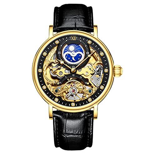 DSJMUY Herren-Armbanduhren, ultradünn, 6,5 mm, minimalistisch, Business-Kleid, wasserdicht, Datumsanzeige, Lederband, schmale Uhren für Herren, analoge Quarzuhr, wasserdicht.