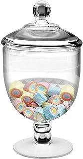Frexmall Apothecary Jar with Airtight Lid in Premium Acrylic, Cookie Jar, Decorative Weddings Candy Buffet, Elegant Storage Jar, 40.5-Ounce