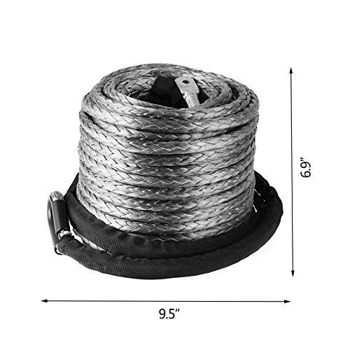 Banpusama Seilwinde Seil 3/20,3cm X 95FT stärksten Synthetik Seilwinde Seil 20500lbs Seilwinde Seil Synthetik mit Fingerhut Sleeve für SUV ATV UTV Truck Boot Ramsey