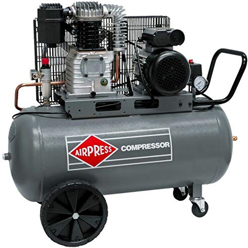 Airpress® HL425-100 Air Compressor 3 HP 2.2 kW 10 Bar 100 Litre Boiler Mobile Piston Compressor 230...