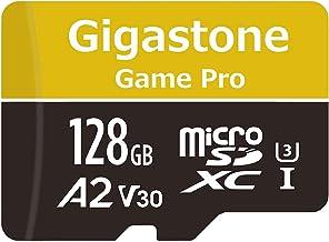 Gigastone Tarjeta de Memoria 128GB MicroSDXC con Adaptador, (U3,A2,V30 y Clase 10), Velocidad de Lectura/Escritura hasta 100/80 MB/s. Adecuado para Móvil y Switch etc.