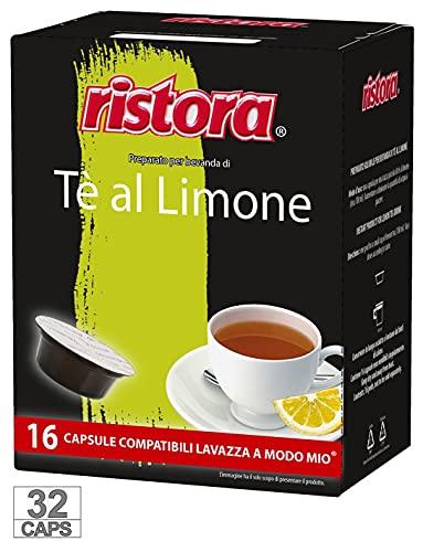 32 Capsule Cialde Ristora Compatibili Lavazza a Modo Mio Te The Limone