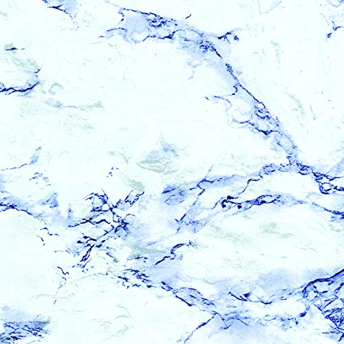 Con-Tact Creative Covering Self-Adhesive Vinyl Drawer and Shelf Liner, 18' x 60', Blue Marble