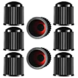 N-A, coprivalvola per pneumatici, in plastica, con anello di tenuta per moto, SUV, camion, bici, colore: nero