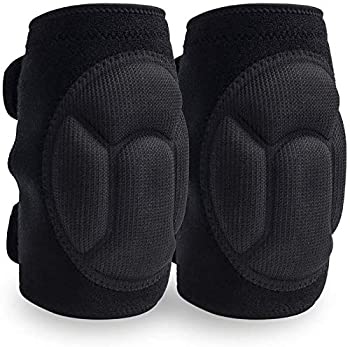JYSW Knee Pads Comfortable Non-Slip Thick Extra Foam Cushion for Scrubbing Floors Gardening Yoga & Construction Soft Inner Liner Strong Double Straps and Adjustable Easily